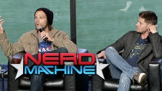 """Supernatural"" Highlights: Conversation with the Cast - Nerd HQ (2013) HD - Jared Padalecki"