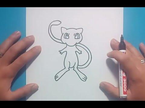 Como dibujar a Mew paso a paso - Pokemon | How to draw Mew - Pokemon
