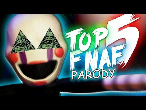 TOP 5 FAKTÓW O FIVE NIGHTS AT FREEDY'S (PARODIA)