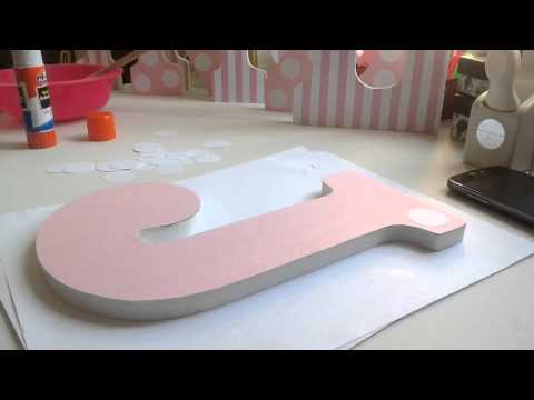 Diy How To Decorate Wooden Letters 1 Youtube