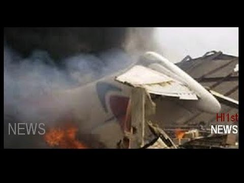 Lagos Plane Crashes Into Building In Nigeria's Largest City (Plane Crash -- News Story (gg) news