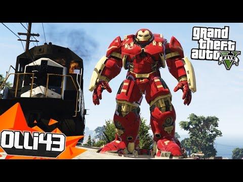TRAIN BUSTER!! GTA 5 Mods Showcase! (GTA 5 Funny Moments)