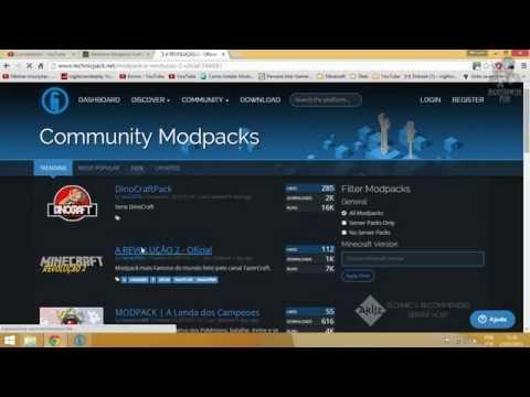 Como instalar modpacks no novo Technic Launcher