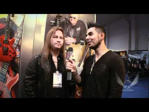 Glen Drover at the Dean Booth. NAMM convention 2011!!