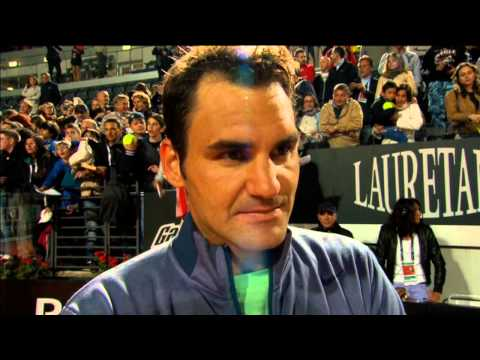 Federer Discusses Rome Win Against Janowicz