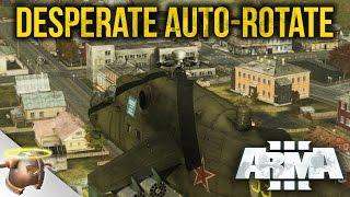 Helicopter auto-rotation crash landing | ARMA 3 Chernarus Liberation DAY 3