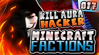 KILL AURA HACKER!! | Minecraft COSMIC Factions! #17 ( Cosmic PvP Pleb Planet )