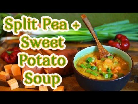 Smoky Split Pea and Sweet Potato Soup Recipe - YouTube
