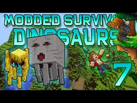 Minecraft: Modded Dinosaur Survival Lets Play w Mitch Ep. 7 NETHER GHASTS BLAZES