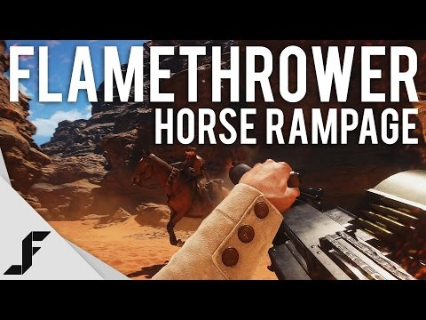 FLAMETHROWER RAMPAGE + HORSE KILLS - Battlefield 1 New Multiplayer Gameplay #1