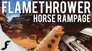 FLAMETHROWER RAMPAGE + HORSE KILLS - Battlefield 1 New Multiplayer Gameplay