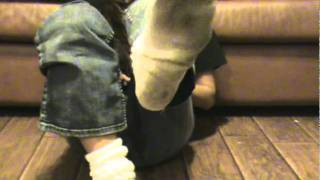 Tall white socks and jeans
