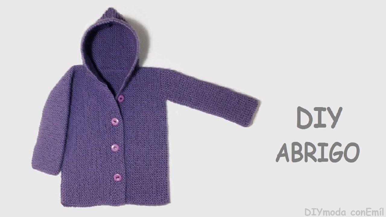 C mo tejer abrigo o chaqueta con capucha para beb youtube - Tejer chaqueta bebe 6 meses ...