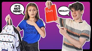 CRUSH REACTS to WHAT'S IN MY SCHOOL BAG **EXPOSED** Must Watch Challenge 🎒| Sophie Fergi