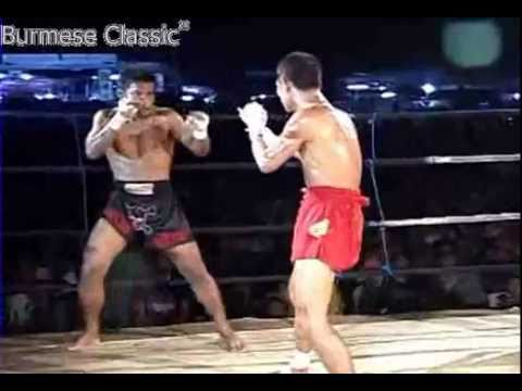Thai vs Burmese fighter TKO