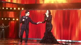 Ana Bárbara Y Christian Nodal En Premios De La Radio Cantando Solos De La Autoría De Ana Bárbara