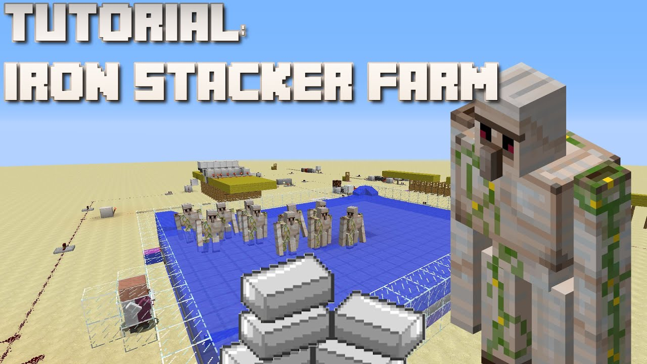 how to make an iron farm in minecraft xbox 360