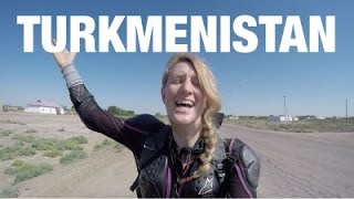Riding into crazy Turkmenistan