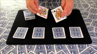 Card Tricks | Four Queen Transpo | Amazing Difficult Card Trick
