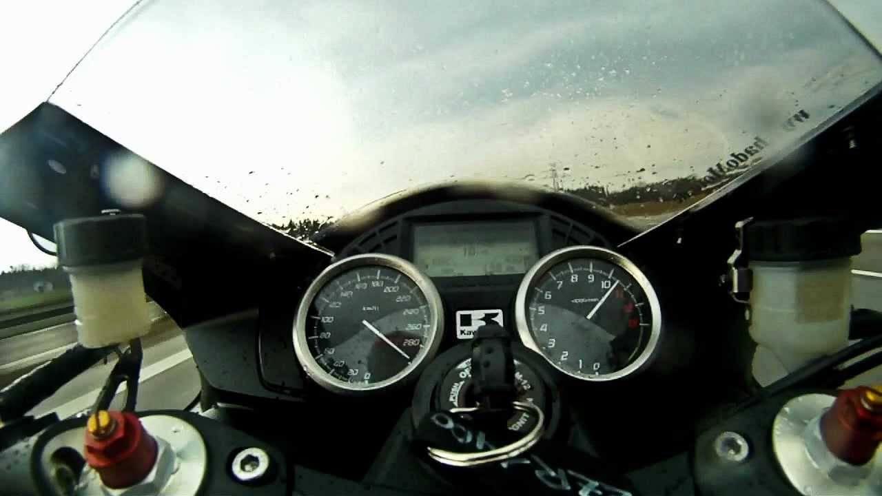 Kawasaki ZZR1400 - 200PS - 300 km/h Autobahn - YouTube