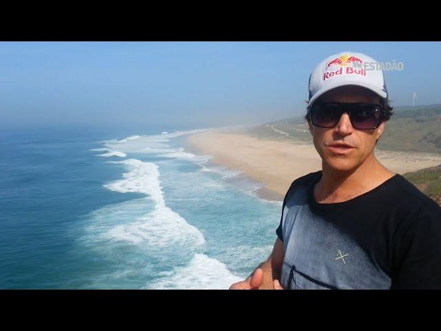 Carlos Burle fala sobre as ondas gigantes de Nazaré, em Portugal