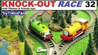 Thomas & Friends KNOCK-OUT RACE #32 - toy trains for kids. Pociągi zabawki Tomek i Przyjaciele