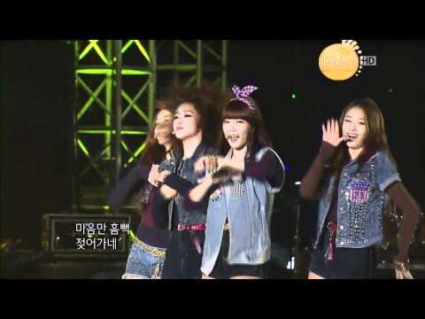 [HD]111030 T-ara - Round & Round @ KBS 7080 Concert