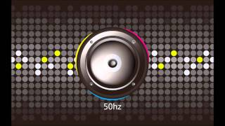 Frequency Sweep 1-100hz (Bass Test) 1080p HD