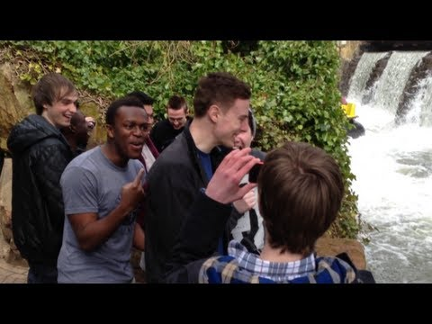 Alton Towers With UK YouTubers (Vlog / GoPro Ride Footage / IRL Video) - Vikkstar123