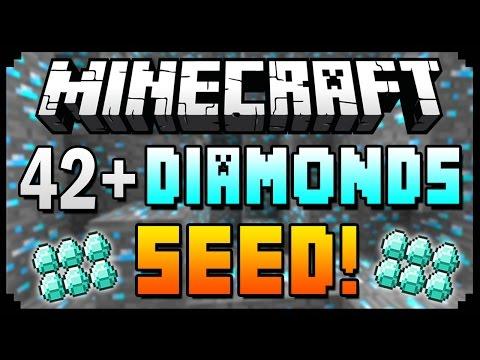 ★ Minecraft 1.8.3 Seeds - 42+ DIAMONDS AT SPAWN! - Best Diamond Seed