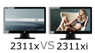 HP 2311x (TN panel) VS HP 2311xi (IPS panel) Comparison Video