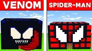CASA VENOM VS CASA SPIDER-MAN - Minecraft ITA