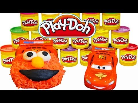 Play-doh Lightning Mcqueen Cars 2 As Sesame Street Elmo - Play Doh Disney Cars Diy Tutorial! video