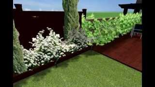 Simulación de diseño de jardín OB, Soria