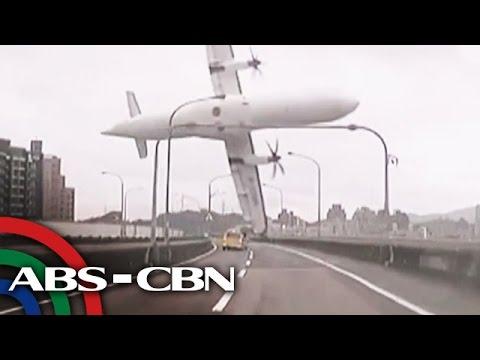 Plane crash sa Taiwan nakunan ng video