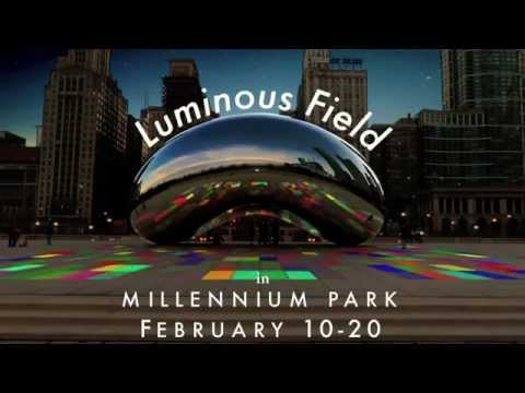 United States Tourism - Chicago - Luminous Field in Millennium Park