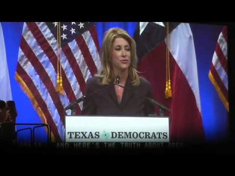 Wendy Davis accepting Democratic Nomination for Governor of Texas at Democratic Convention