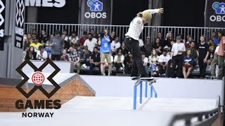 Jaakko Ojanen is your top Men's Skateboard Street Nordic Qualifier | X Games Norway 2018