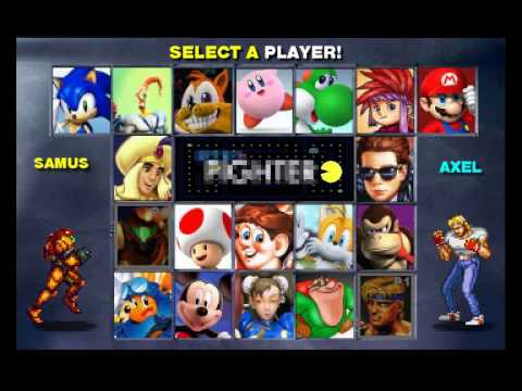 Retro Fighter - Character Selection Screen