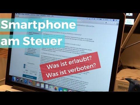 Smartphone am Steuer - Was ist erlaubt? Was ist verboten?