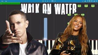 Download Lagu Eminem - Walk On Water ft. Beyoncé - Piano Tutorial Gratis STAFABAND