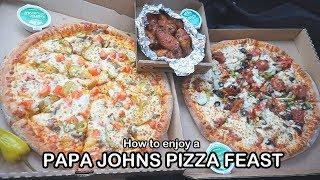 How to enjoy PAPA JOHNS PIZZA