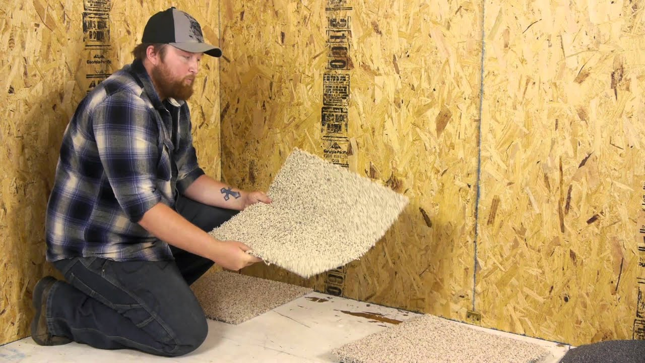 How to lay carpet tiles on concrete floor