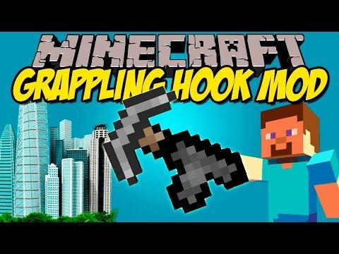 GRAPPLING HOOK MOD - Siéntete todo un Espaiderman! - Minecraft mod 1.8 Review ESPAÑOL