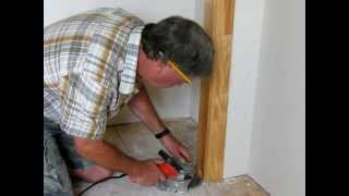Installing Laminate Flooring--Undercutting Doorways