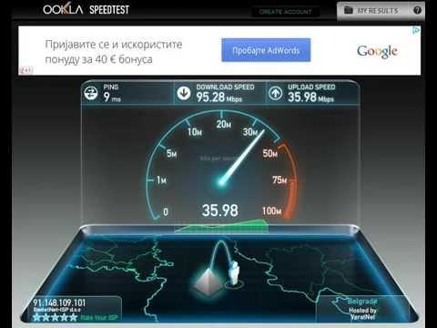 100/100 Mbps Fiber Internet Connection SRBIJA