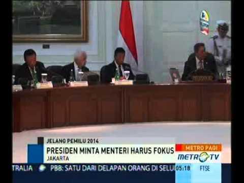 SBY Minta Para Menteri Konsentrasi Pada Tugas Negara