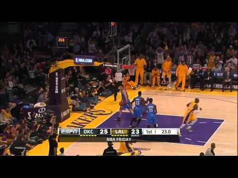 Kobe Bryant 28 Points vs Oklahoma City Thunder - 11/01/2013