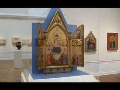 Follower of Bernardo Daddi, The Aldobrandini Triptych; Madonna Surrounded by Saints