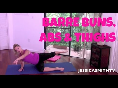 Barre Full Length Workout Video  25 Minute Abs, Butt &amp  Thighs Barre Workout
